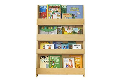 Biblioth/èque bois Blanche avec alphabet Tidy Books /étag/ère livres de face Rangement id/éal pour les livres denfants 115 x 77 x 7 cm La biblioth/èque originale pour enfants