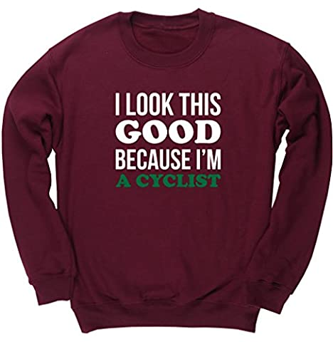 HippoWarehouse I Look This Good Because I'm A Cyclist kids unisex jumper sweatshirt pullover