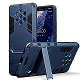 TERRAPIN, Kompatibel mit Nokia 9 PureView Hülle, Silikon + Polycarbonat Tasche mit Standfunktion - Dunkelblau