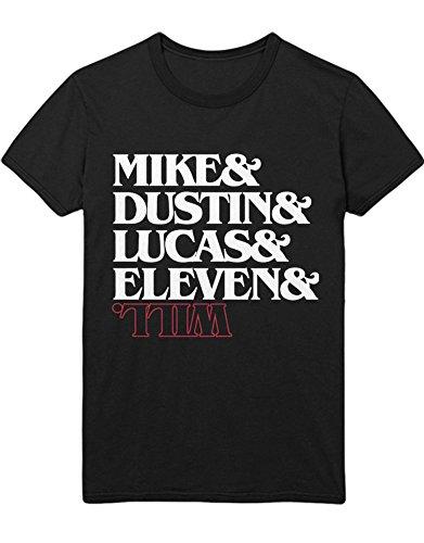 Hypeshirt Shirt Stranger Things Mike Dustin Lucas Eleven Will C000067 Schwarz