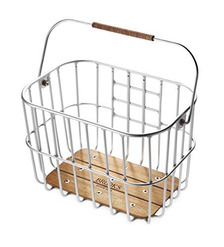 Brooks England Ltd. Gepäckträgertaschen Basket, Silver, One Size, BB003 A00003 (Wire Korb)