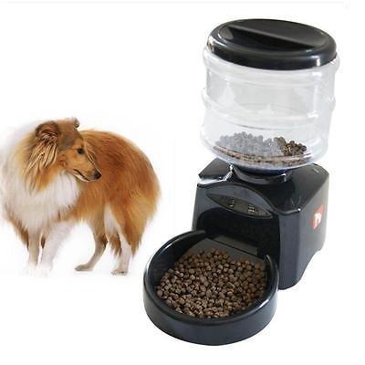 Haustier Futterspender Futterautomat Automatisch Futternapf für Hunde und Katzen mit Ton-Aufnahmefunktion ca.3kg Batterie-Betrieb Schwarz (Schwarz) - 3