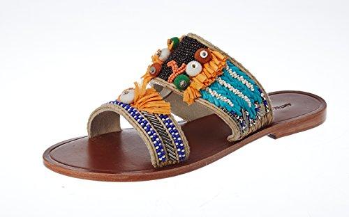 41bEJHzU 6L - Antik Batik Damen Pallas Peeptoe Sandalen
