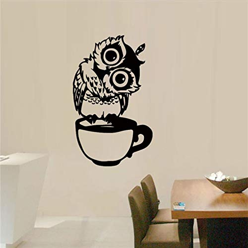 GBICjdojf Creative Animal Owl Wall Sticker Mobile Creative Wall Affixed with Decorative Wall Window Decoration