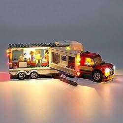 K9CK Jeu de Lumiere pour Lego Caravane familiale 60182, Kit Lumières LED Compatible avec Modèle en Blocs de Construction( Modèle Pas Inclus)