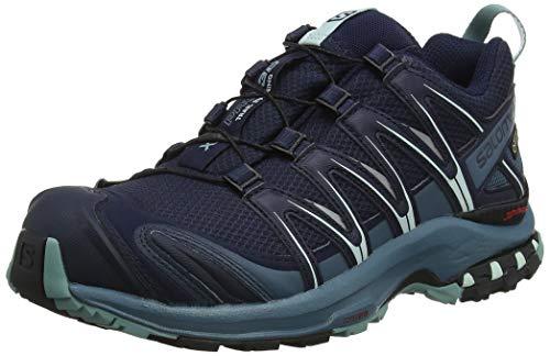 Salomon Damen XA Pro 3D GTX, Trailrunning-Schuhe, Wasserdicht, blau (navy blazer / mallard blue / trellis), Größe 38 2/3