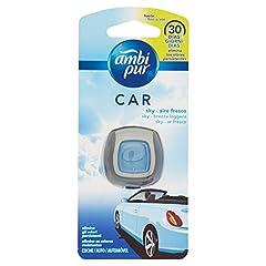 Idea Regalo - Ambi Pur Sky Brezza Leggera Deodorante per Auto con Clip, 1 Pezzo