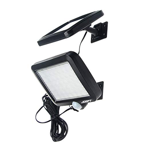 Solarlampen für Außen, Jorft 56 LED Solarleuchte Außen mit Bewegungsmelder Solar Beleuchtung Wasserdicht Solarlicht Sicherheit Helle Lichter mit 16.5ft Kabel (Dach Mit Licht)