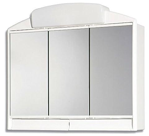 CRAVOG Spiegelschrank mit Beleuchtung Steckdose Badschrank Bad Spiegel
