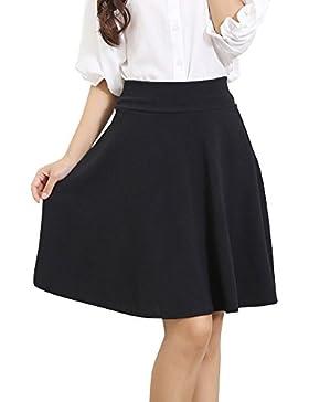 8f70137f14 Tallas Grandes Falda Mujer Elástica Plisada Básica Patinador Multifuncional  Falda Ala Rodilla