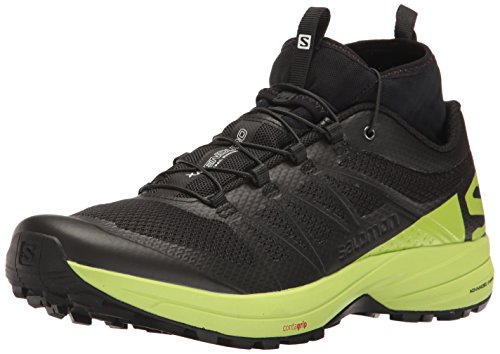 Salomon XA Enduro, Zapatillas de Trail Running Hombre, Negro (Black/Lime Green/Black), 42 EU