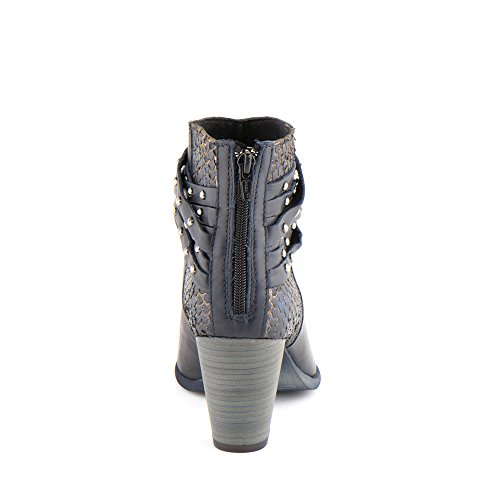 Felmini - Damen Schuhe - Verlieben Viana 1054 - Hochhackige Stiefeletten - Echte Leder - Mehrfarbig Mehrfarbig