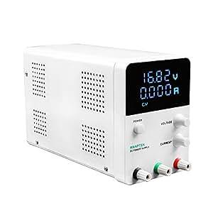 KKmoon Wanptek Voltage Regulator Switching 4 Digits Blue LED Display Switch Laboratorio DC Power Supply 0-30V 0-10A Mini DC Power Supply Precisione Variabile Regolabile AC 115V/230V 50/60Hz