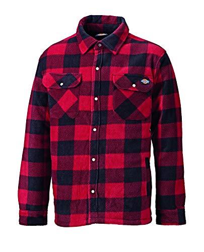 Dickies Portland SH5000, Thermo Shirt de différentes Couleurs Tailles, Chemise Lumberjack/Chemise du Travail/Veste d'automne/Veste d'hiver (Rouge, Large)