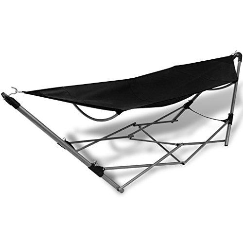 vidaXL Hängematte mobil Stahlgestell Sonnenliege Gartenliege Camping Strandmatte