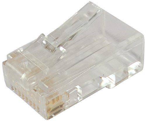 Preisvergleich Produktbild Aerzetix: 10x 8-poligen RJ45-Stecker 8p8c Cat6 Kabel-Netzwerk Ethernet-Kabel