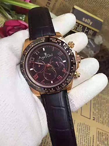 XRLSONE New Mens Qualität Rose Gold Chocolate Dial Keramik Lünette Leder Automatic Mechanical Sapphire Uhren 2
