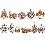 L_shop Weihnachtsbaum Anhänger Windspiel Vogel Engel Christbaumschmuck Miniatur Lebkuchen Weihnachtsbaum Hängende Dekorationen Weihnachten liefert Neujahr Dekorationen, wie es Beschreibung (No.2), Brown