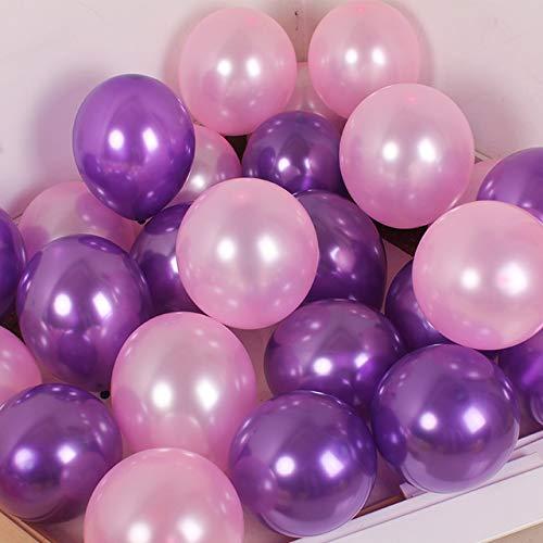 Erosion Luftballons Flieder Rosa, 50 Stück Flieder Luftballons Lila Luftballons Luftballons Rosa Luftballon für Prinzessinnen Party, Barbie Geburtstagsparty, Barbie Taufe, Cinderella Party (Barbie Geburtstagsparty)