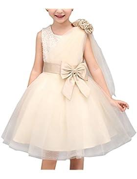 SMITHROAD Kinder Mädchen Prinzessin Kleid Festlich für Hochzeit Tüll Schichten mit Strass und Schleife Dekor Ärmellos