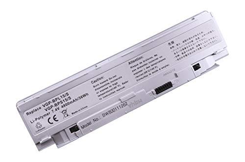 vhbw Li-Polymer Batterie 4800mAh (7.4V) Argent pour Ordinateur Portable, Notebook Sony VAIO VGN-P45GK/W, VGN-P50/W, VGN-P530CH/W comme VGP-BPS15/S.