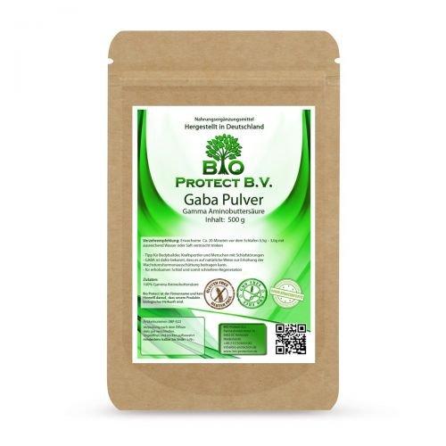 Gaba Pulver 500g - Gamma Amino-Buttersäure 100% ohne Zusätze oder Trennmittel (Schlafen Gamma-aminobuttersäure)