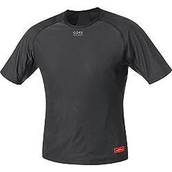 Gore BIKE WEAR Camiseta interior de hombre, Manga corta, Elástica, WINDSTOPPER, BASE LAYER WS Shirt, Talla: XXL, Negro, UWSHMS990007