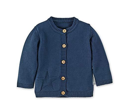 Sterntaler Baby Strick-Jacke für Jungen, Baylee, Alter: 3-4 Monate, Größe: 56, Blau (Marine) - Leicht Gerippte Strickjacke