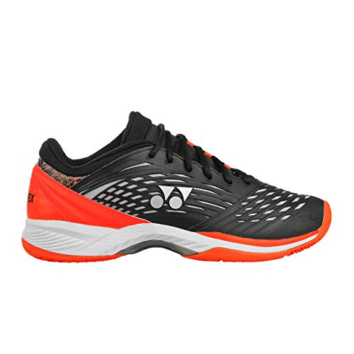 Yonex Herren Power Cushion Fusion Rev 2 Clay Tennisschuhe Sandplatzschuh Schwarz - Orange 47