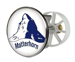 Waschbeckenstöpsel Design Matterhorn | Abfluss-Stopfen aus Metall | Excenterstopfen | 38 – 40 mm
