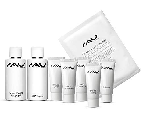 Bha Feuchtigkeitscreme (RAU Cosmetics Schnupper-Set - Hyaluron - Pröbchenmix zum Reinschnuppern - Mini Size, Travel Size, Produktproben Reinigung, Creme, Maske, Gesichtswasser, Anti Aging)