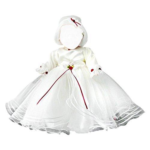 Taufkleid Taufkleider für Mädchen Baby Babies Kleinkind für Taufe Hochzeit Feste, Größe 80-86 JE35 (Designer Taufkleider)