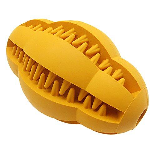 ubest Hundeball Hundespielball aus Naturkautschuk Hundespielzeug Zahnpflege Gummispielzeug, Typ 2, L