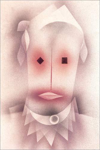 Posterlounge Leinwandbild 40 x 60 cm: Monsieur Perlenschwein von Paul Klee - fertiges Wandbild, Bild auf Keilrahmen, Fertigbild auf echter Leinwand, Leinwanddruck - Monsieur Gesicht