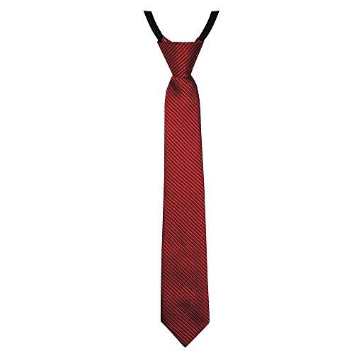 Soul-Cats® gestreifte Jungen / Kinder Krawatte 40cm lang, vorgebunden und verstellbar, Farbe: rot