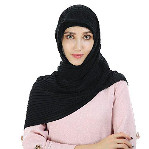 WINWINTOM Schal Super Weichen Islam Muslim Einfarbig Damenschal Frauen Mädchen Scarves Frauen...