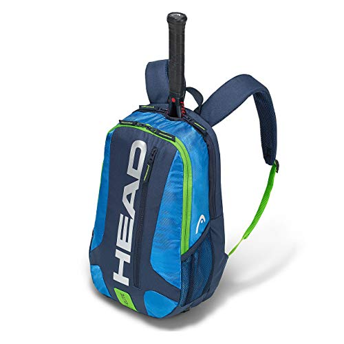 HEAD Unisex - Erwachsene Elite Backpack Tennistasche, Blue/Green, - Hülle Kinder Tennisschläger