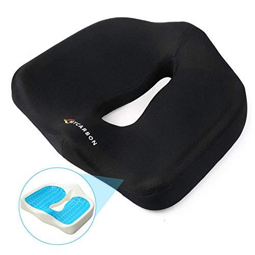 Mycarbon cuscino antidecubito per sedia a rotelle in gel traspirante cuscino coccige memory antiscivolo lavabile cuscino ortopedico per auto sedia ufficio casa