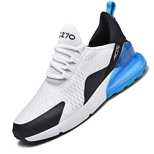 Mabove Laufschuhe Herren Damen Turnschuhe Sportschuhe Straßenlaufschuhe Sneaker Atmungsaktiv Trainer für Running Fitness Gym Outdoor(Weiß.B/1270,41 EU)
