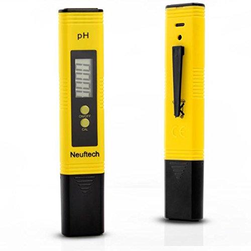 Neuftech ATC Digital pH WERT Messgerät Meter Tester Messer mit Auto Calibration Button für Aquarium Pool Labor
