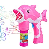 Bubble Gun, Womdee Automatic Bubble Machine with LED Light Up and Sound Durable