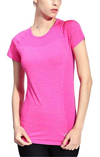 Feuchtigkeit Wicking Hemd (GoodNight Frauen Sport Kurzarm Feuchtigkeit Wicking Yoga Hemd)