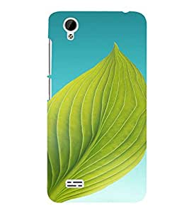 PrintVisa Leaf Design 3D Hard Polycarbonate Designer Back Case Cover for Vivo Y31L