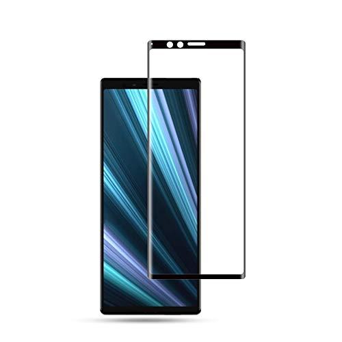 Displayschutzfolie für Sony Xperia 1 / Xperia XZ4, 0,33 mm 9H 3D Runde Schutzkante aus gehärtetem Glas für Sony Xperia 1 / Xperia XZ4 (Schwarz) HD Clear (Farbe : Black)