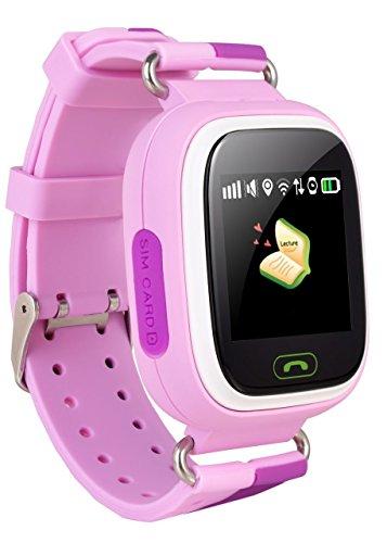 VIDIMENSIO GPS Telefon Uhr Kleiner Affe - pink ohne Abhörfunktion, für Kinder, SOS und Telefonfunktion Abbildung 2