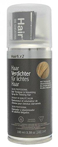 Hairfor2 Haarverdichter Spray, mittelblond, 1er Pack, (1x 100 ml)