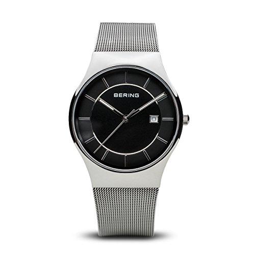 Bering orologio uomo Classic maglia nera 11938–002