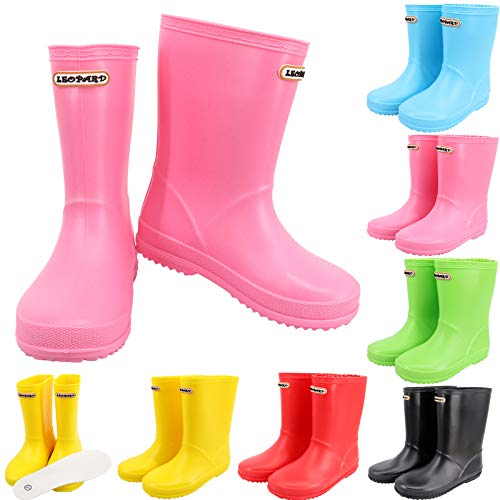 Leopard CUB Unisex Kids Wellies Wellington Rain Boots Baby Infant Toddler Waterproof Non-Slip Rain Shoes