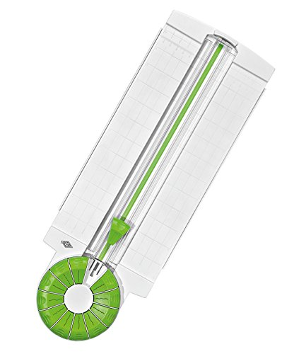 Wedo 796500 Rollenschneider Comfortline 12-in-1 (ausklappbare Linealleisten, Schnittbreite bis 31 cm für Papier, Karton, Fotos) weiß/apfelgrün