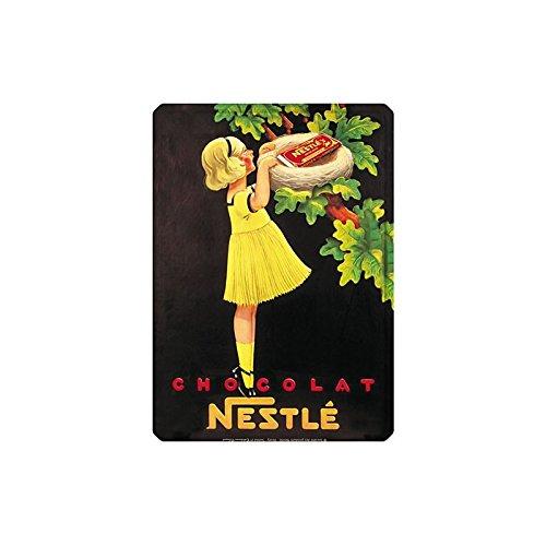 Editions Clouet 29039 - Petite Plaque métal 15x21 cm Nestlé - Nid